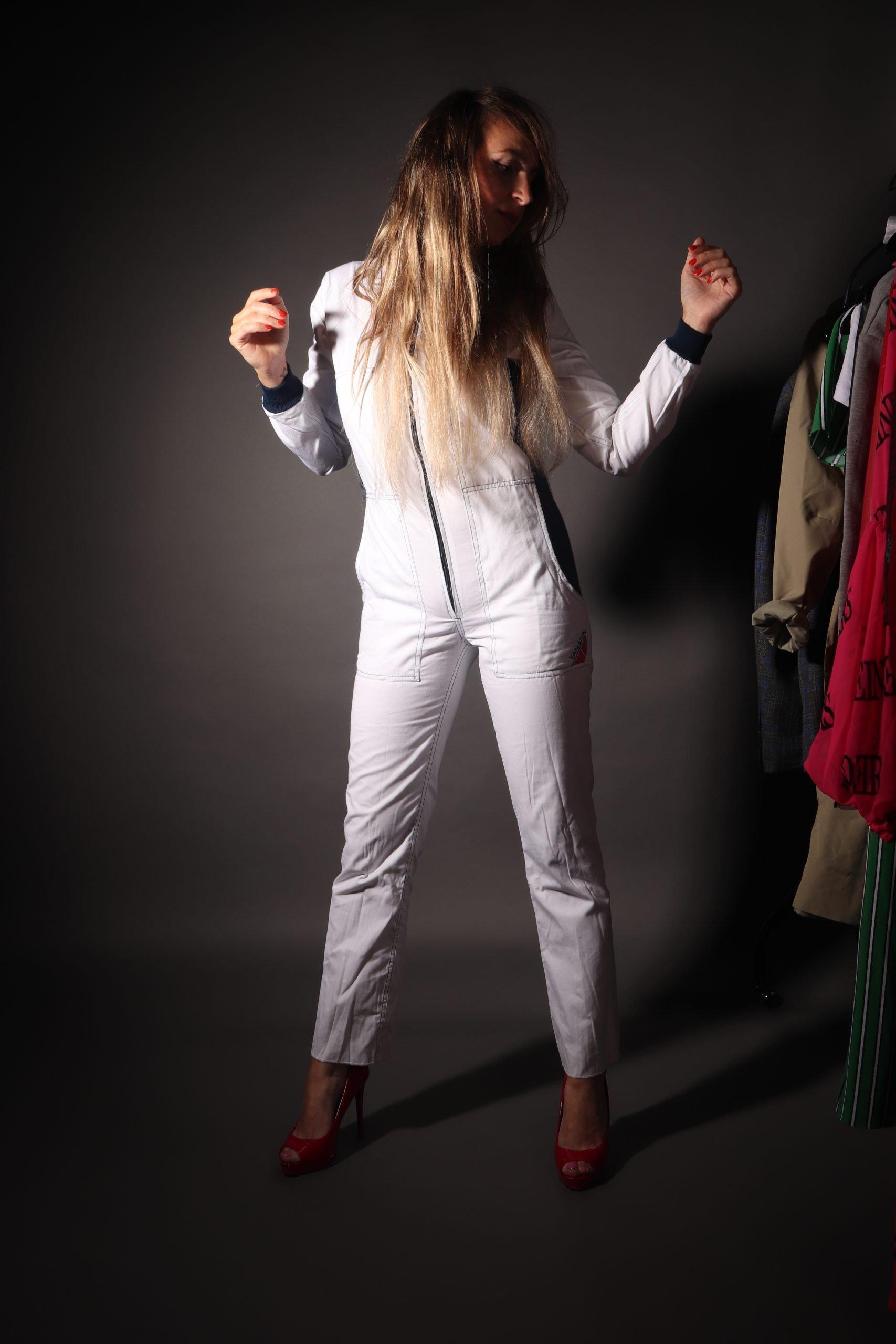 yamaha motors workwear overall photoshoot jumpsuit white wit