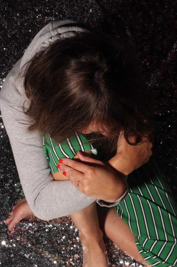 pailletten sequin kleed rug stipes envii green groen jumpsuit